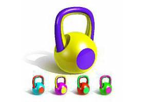 健身增肌举重哑铃器材海报设计