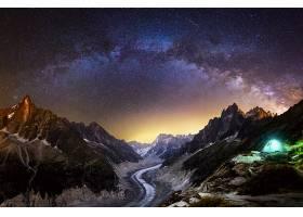 露营,自然,风景,山,夜晚,明星,布满星星的,天空,壁纸,