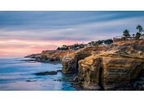 海岸线,地球,海岸,岩石,存储区域网,迭戈,海洋,地平线,壁纸,