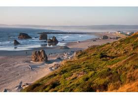 海岸线,岩石,沙,海洋,风景,壁纸,