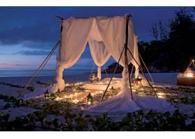 节日,蜡烛,海滩,海洋,浪漫的,沙,地平线,夜晚,壁纸,
