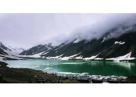湖,湖,巴基斯坦,云,人,山,冰,自然,风景,雪,壁纸,