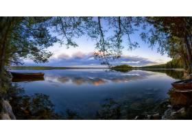 湖,湖,自然,风景,反射,小船,壁纸,