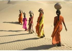 女人,妇女,女孩,沙漠,壁纸,