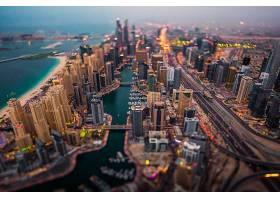 倾斜,变化,迪拜,城市,一致的,阿拉伯人,阿联酋航空公司,城市风光,