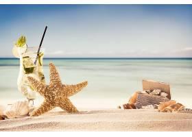 热带的,星星,鱼,沙,地平线,鸡尾酒,海洋,海滩,壁纸,