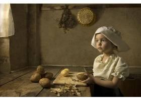 儿童,艺术的,绘画,女孩,漂亮的,小的,女孩,壁纸,