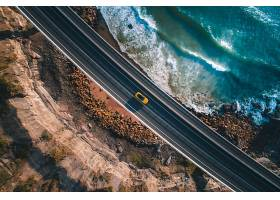 天线,路,汽车,黄色,汽车,海岸,公路,岩石,波浪,壁纸,