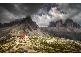 山,悬崖,山峰,建筑物,云,壁纸,