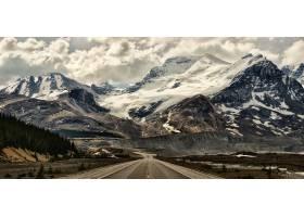 山,地球,雪,云,路,风景,壁纸,