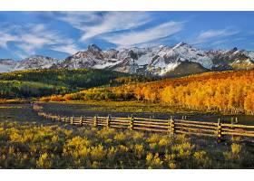 山,秋天,风景,壁纸,