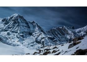 山,阿尔卑斯山脉,攀爬,人,雪,冬天的,山峰,顶点,自然,地球,壁纸,
