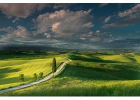 托斯卡纳区,自然,风景,天空,云,小山,领域,意大利,壁纸,
