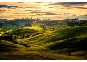 托斯卡纳区,自然,风景,意大利,绿色的,云,壁纸,