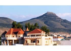 风景,阿尔及利亚,山,别墅,房子,女子名,山脉,壁纸,