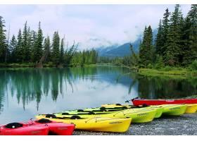 湖,湖,小船,自然,风景,森林,树,壁纸,