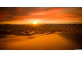 日落,天空,沙丘,沙漠,沙,地平线,风景,壁纸,