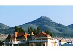 山,城镇,别墅,阿尔及利亚,女子名,山脉,壁纸,