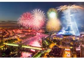 烟火,巴黎,城市,城市风光,埃菲尔铁塔,塔,纪念碑,河,夜晚,灯光,壁