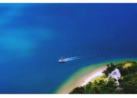 海洋,海,岛,小船,风景,壁纸,