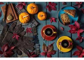 仍然,生活,手套,南瓜,蛋糕,咖啡,叶子,秋天,壁纸,