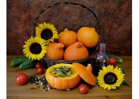 仍然,生活,秋天,向日葵,南瓜,壁纸,(1)