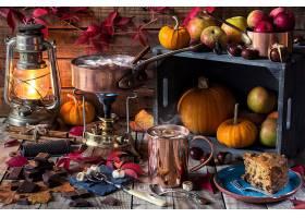 仍然,生活,秋天,灯笼,南瓜,巧克力,壁纸,