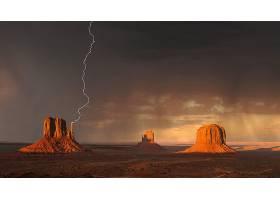 闪电,纪念碑,山谷,沙漠,壁纸,