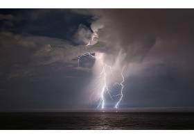 闪电,自然,风景,海洋,壁纸,