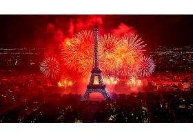 烟火,巴黎,埃菲尔铁塔,塔,富有色彩的,庆祝,壁纸,