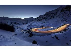 延时,延时,自然,风景,路,冬天的,雪,夜晚,壁纸,