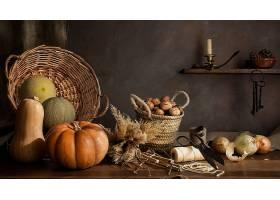 仍然,生活,南瓜,螺母,甜瓜,秋天,壁纸,