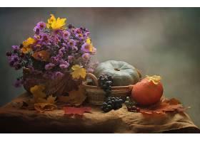 仍然,生活,叶子,秋天,葡萄,酒香,南瓜,花,粉红色,花,壁纸,