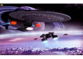 星星,艰苦跋涉,企业,CGI,3D,星际飞船,空间,行星,壁纸,