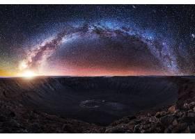 乳白色的,方法,夜晚,明星,布满星星的,天空,自然,风景,火山口,壁