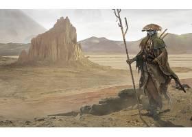 电子人,沙漠,壁纸,