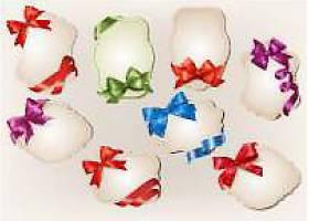 礼品卡带彩色礼品蝴蝶结丝带装饰素材