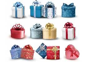 不同形状的礼物盒装饰素材