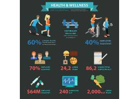 人物健康医疗卫生健身运动食物膳食平衡主题矢量插画设计