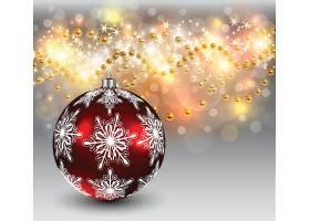 光影圣诞节悬挂装饰球金球雪花图案装饰背景