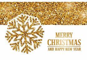 金色圣诞节新年快乐装饰背景