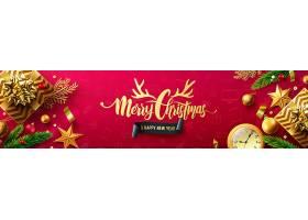 新年喜庆海报圣诞节海报设计模板