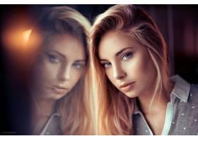 女人,模特,妇女,女孩,脸,白皙的,蓝色,眼睛,反射,壁纸,