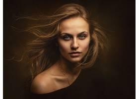 女人,模特,妇女,女孩,脸,白皙的,蓝色,眼睛,壁纸,(7)