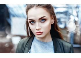 女人,模特,妇女,女孩,脸,蓝色,眼睛,凝视,壁纸,