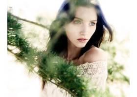 女人,模特,妇女,女孩,蓝色,眼睛,黑色,头发,壁纸,