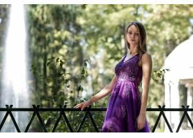 女人,模特,妇女,女孩,紫色,穿衣,深度,关于,领域,白皙的,壁纸,
