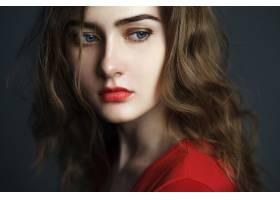 女人,模特,妇女,女孩,脸,口红,蓝色,眼睛,黑发女人,壁纸,