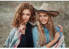 女人,模特,妇女,女孩,微笑,口红,红发的人,白皙的,帽子,蓝色,眼睛