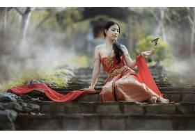 女人,亚洲的,蝴蝶,模特壁纸,